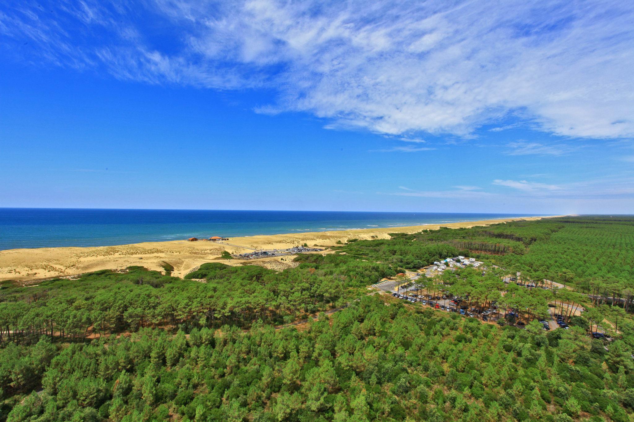 Messanges vue aérienne plage océan plage forêt