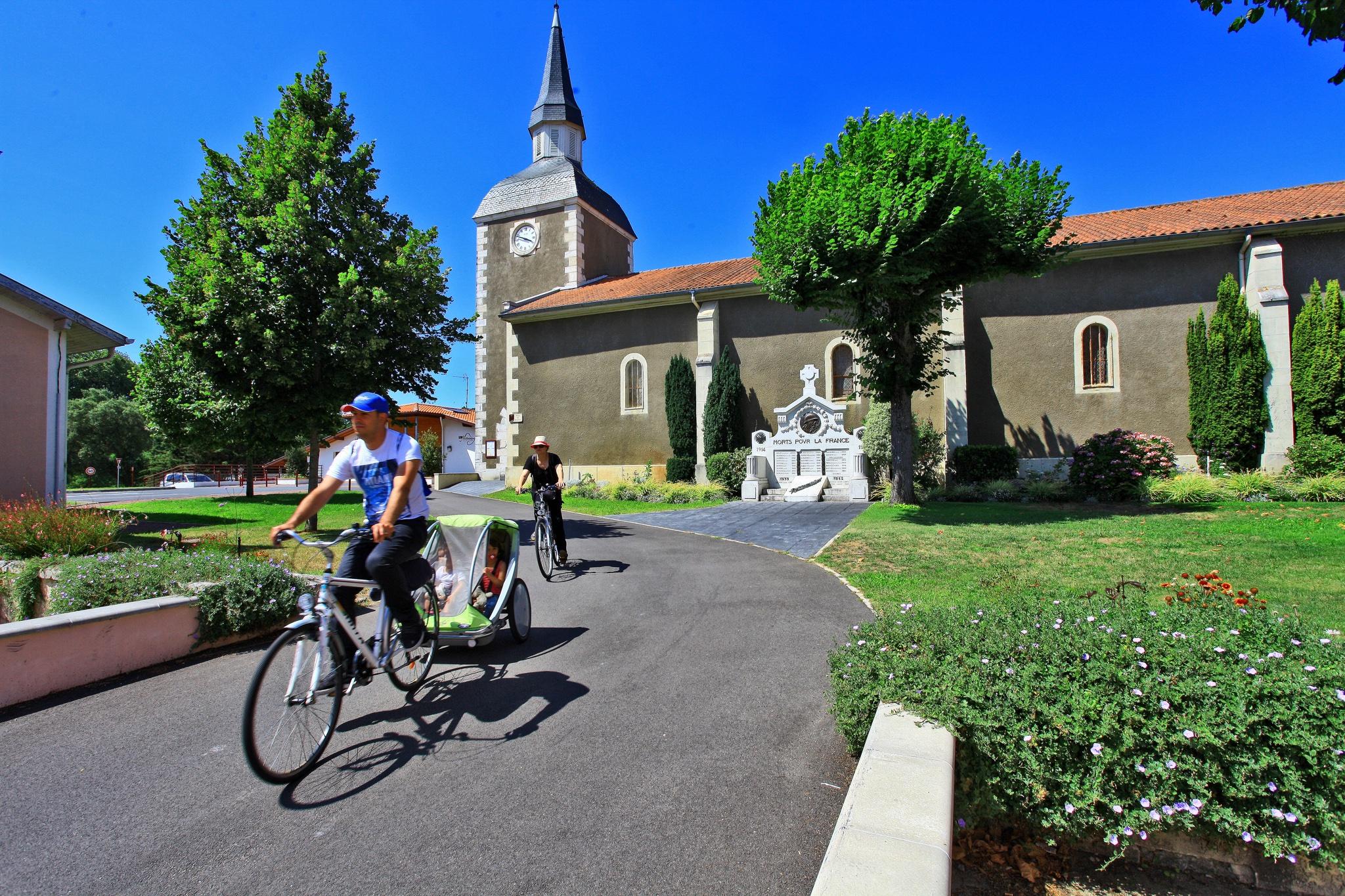 piste cyclable du bourg de Messanges à la plage