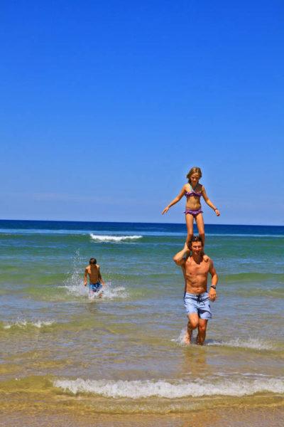 vacances à la plage en famille à Messanges dans les Landes sur la côte sud atlantique