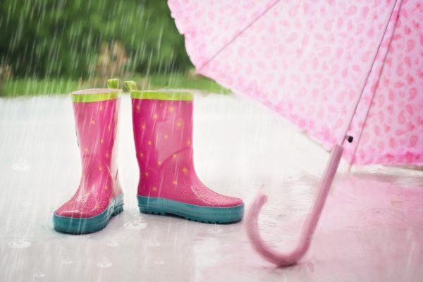 """Smiling in the rain"""