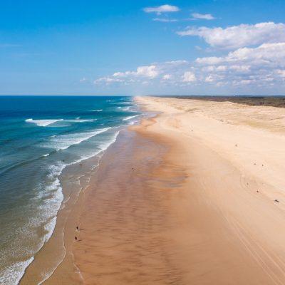 La costa sur de Las Landas, la playa infinita